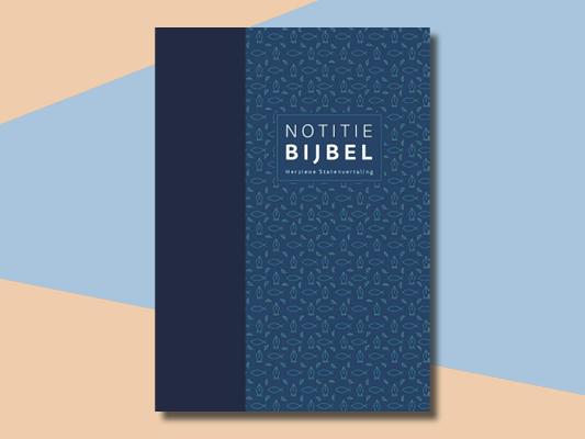 Notitiebijbel voor aantekeningen of biblejournaling