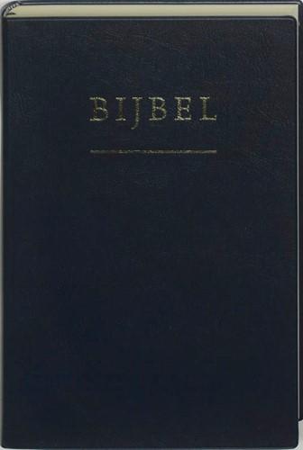 Bijbel huisBijbel nieuwe vertaling edelskai kleursnede blauw (Hardcover)