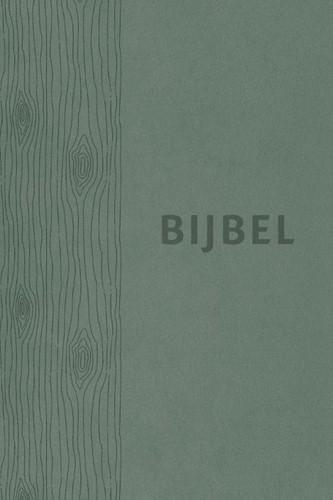 Bijbel (HSV) - vivella groen met duimgrepen (Leder/Luxe gebonden)