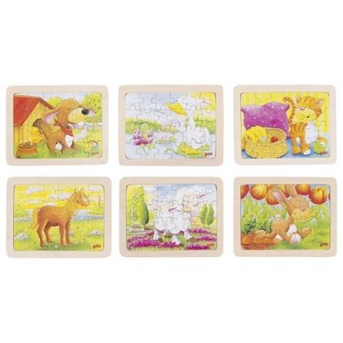 Houten puzzel dieren, 24st (Hout)
