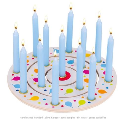 Verjaardagtaart balonnen voor 13 kaarsen (Hout)