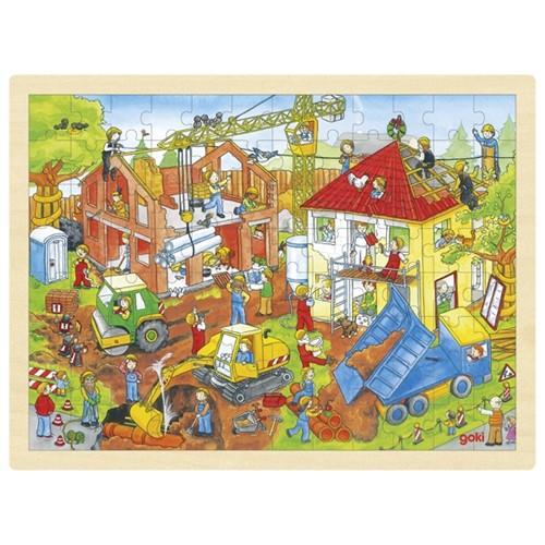 Puzzel Op de bouwplaats - 96st (Hout)