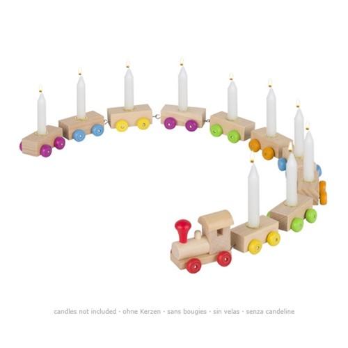 Verjaardagstrein 10 kaarsen (Hout)