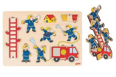 Stand-up puzzel: Brandweer in actie (Hout)