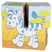 Blokpuzzel 4 stukjes Dieren (Canvas)