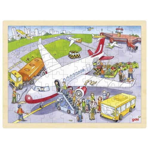 Puzzel Op het Vliegveld - 96st (Hout)