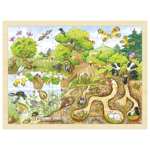 Puzzel: Ontdek de natuur. 96st. (Hout)