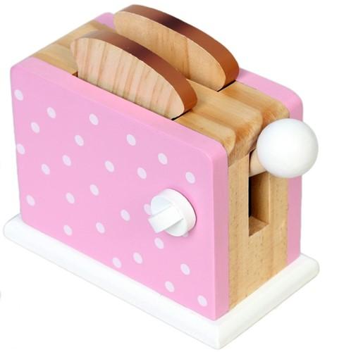 Broodrooster met Stippen - roze (Cadeauproducten)