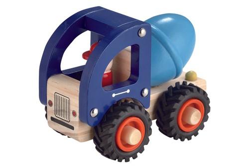 Houten Betonwagen met rubberen wielen