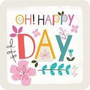 Onderzetter: Oh Happy Day (nieuw) (Cadeauproducten)