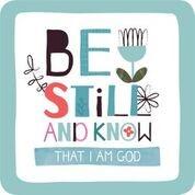 Onderzetter: Be Still (nieuw) (Cadeauproducten)