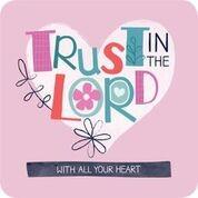 Onderzetter: Trust in the Lord (nieuw) (Cadeauproducten)