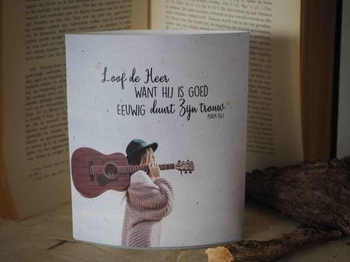 Lichtje voor jou: Loof de Heer want Hij is goed (Cadeauproducten)