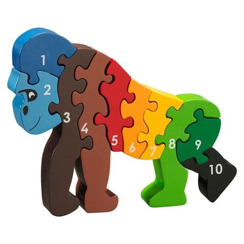 Puzzel Gorilla, 1-10 (Hout)