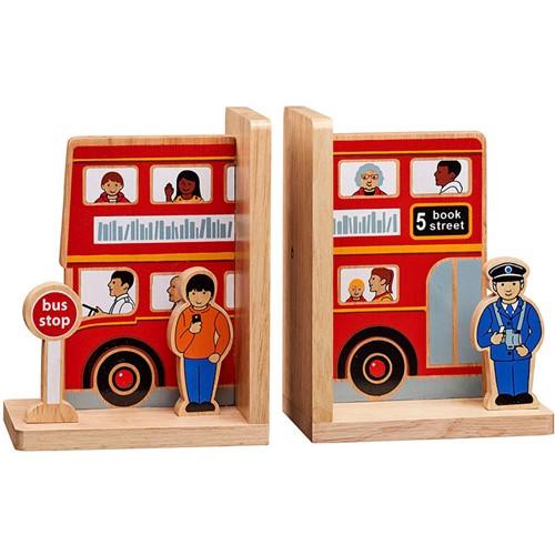 Boekensteun Bus (Hout)