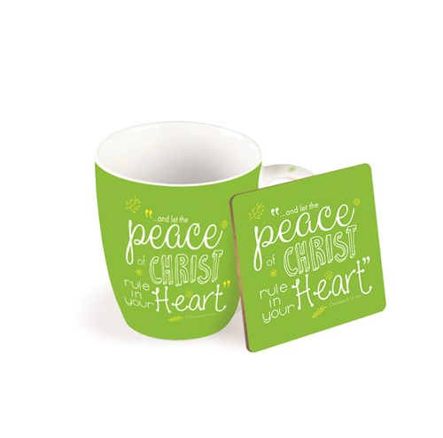 Mok incl. onderzetter: Peace of Christ (Cadeauproducten)