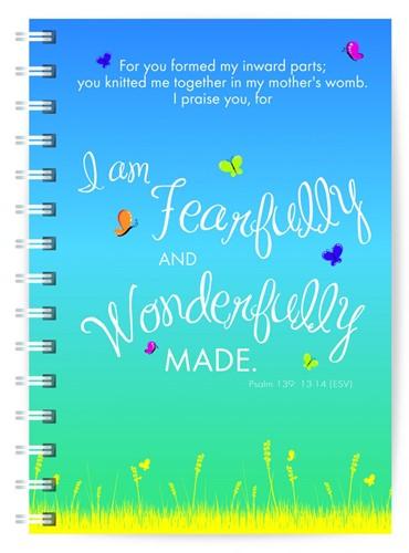 Journal: Wonderfully made (Paperback)