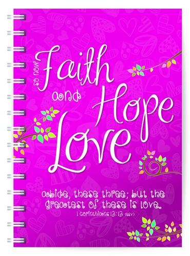 Journal: Faith, hope & love (Paperback)