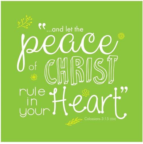 Onderzetter: Peace of Christ