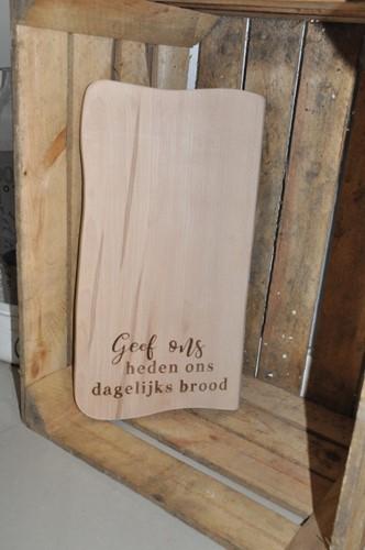 Rustieke Snijplank Beuken, Geef ons heden ons dagelijks brood (Hout)