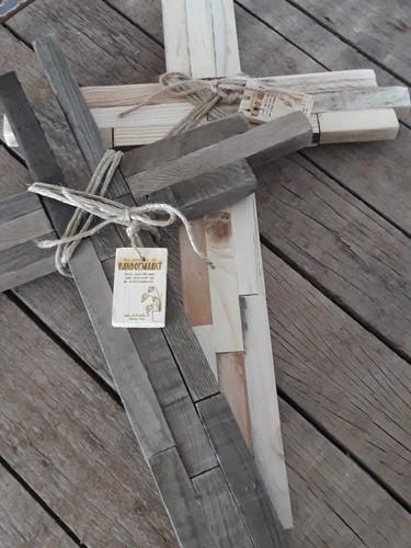 Houten kruis Authentiek Blank M (Hout)