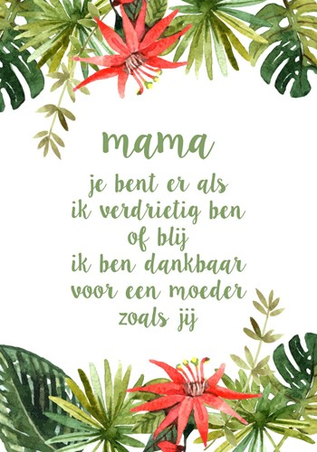 Canvas Bord S: Mama....... (Canvas)