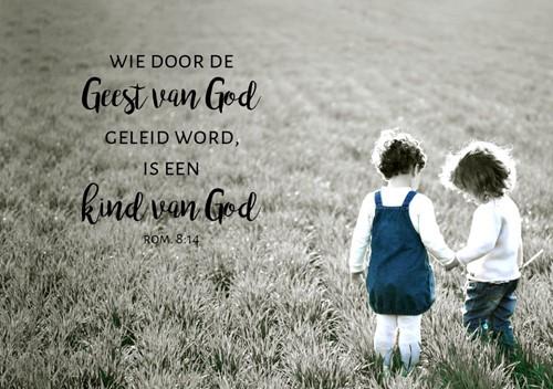 Canvas Bord S: Wie door de Geest van God geleid word, is een Kind (Canvas)