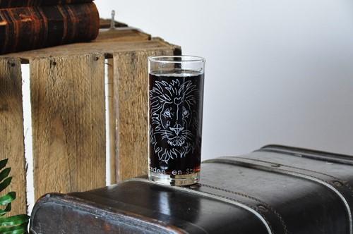 Drinkglas, thema Bemoediging, Leeuw (Glas)