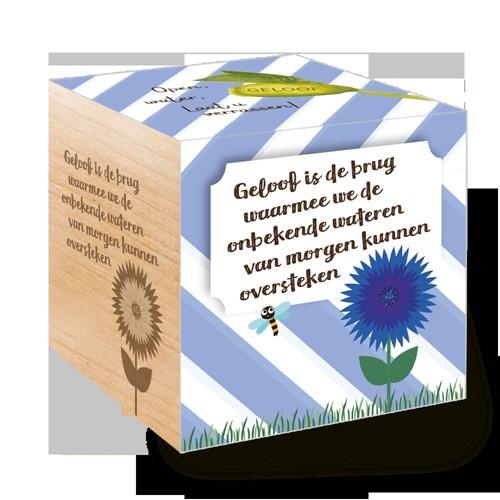 Groei Kubus hout: Geloof is de brug waarmee we de onbekende water