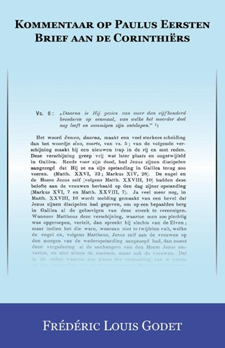 Kommentaar op Paulus Eersten Brief aan de Corinthiërs (Boek)