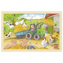 Puzzel Kleine Tractor - 24 stukjes (Hout)