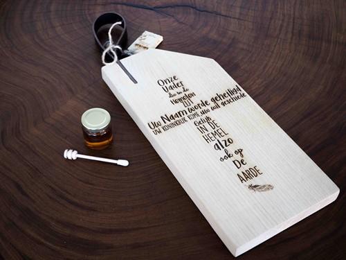 Snijplank met leren lus