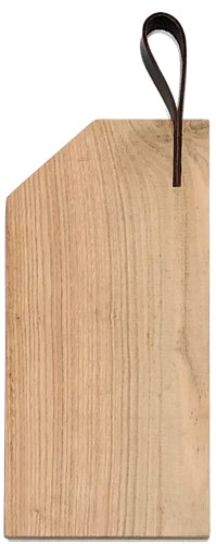Snijplank met leren lus (Kastanjehout)