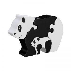 Puzzel Panda met Jong  4 delig (Hout)