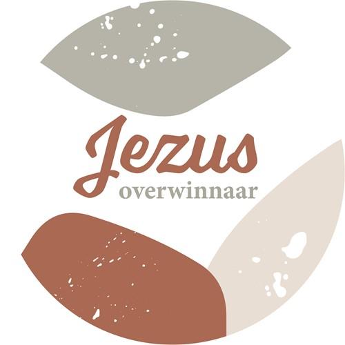 Muurcirkel Multicolor 25 cm - Jezus Overwinnaar (Cadeauproducten)