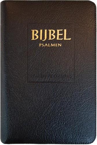 Bijbel (SV) met psalmen (ritmisch) - met goudsnee, rits en duimgr (Hardcover)