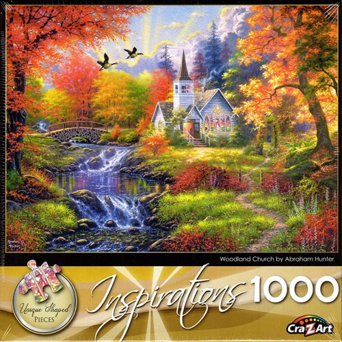 Puzzel Woodland Church (1000 stukjes) (Puzzel)