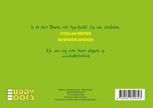 Kleuren met Opa Knoest - Wilde dieren - 5 ex. (Paperback)