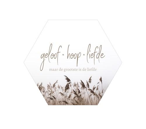 Muurcirkel Honinggraat - Geloof, hoop, liefde (Cadeauproducten)