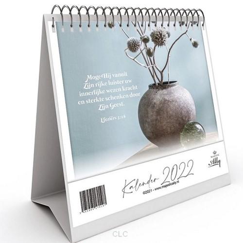 Bureaukalender 2022 PUUR met Bijbeltekst (Ringband)