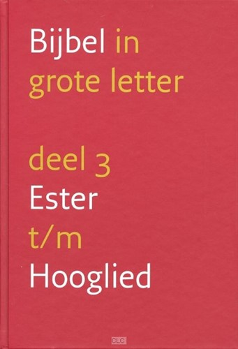 Bijbel in grote letter deel 3 (Hardcover)