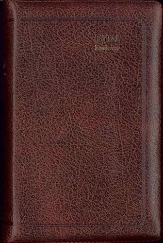 Bijbel ritmisch bruin leer goudsnee rits