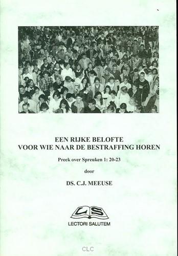 Een rijke belofte voor wie naar de bestraffing horen (Boek)