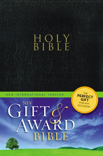 Gift & award bible NIV black leather lik (Boek)