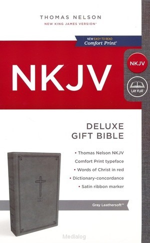 NKJV deluxe gift bible grey (Leder/Luxe gebonden)