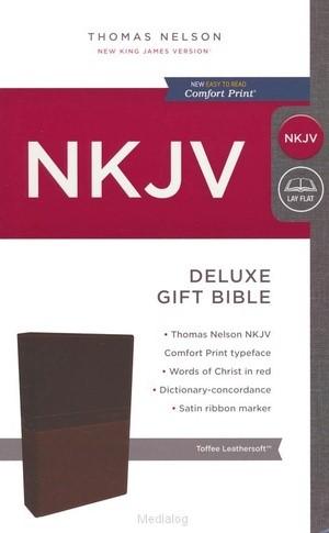 NKJV deluxe gift bible tan (Boek)