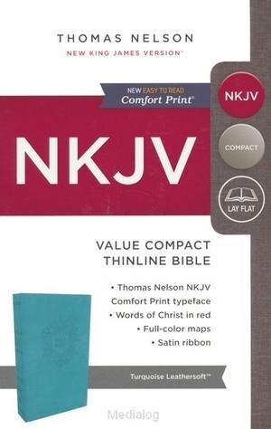 NKJV value compact thinline bible turqoi (Boek)