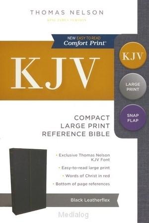 KJV compact lp ref bible snapflap black (Boek)