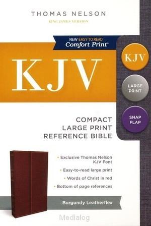 KJV compact lp ref bible snapflap burg (Boek)