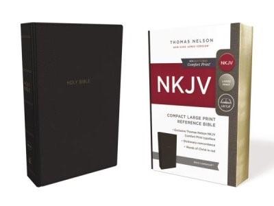NKJV compact Lp ref bible black imitatio (Boek)